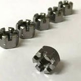 SS Slotted Hex Nuts