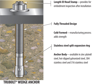 Wedge Anchors Bolts